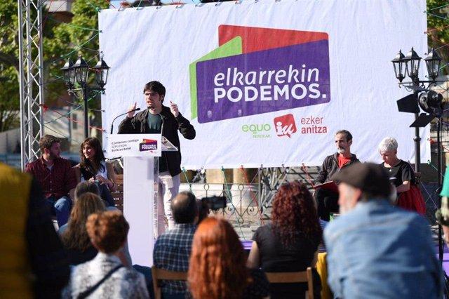"""Martínez (Elkarrekin Podemos) advierte de que el PNV ofrece """"un modelo explotador"""" con el PSE como """"cómplice"""""""
