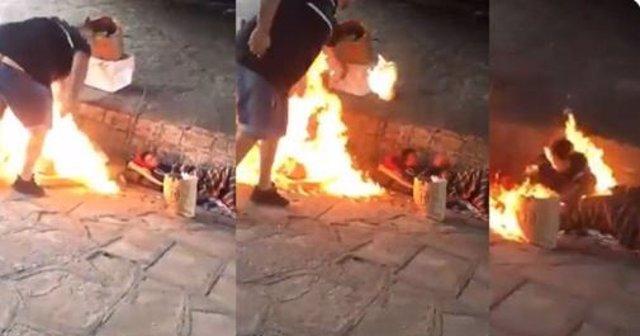 Queman a un indigente, lo graban en vídeo y lo publican en redes, en Mataderos, Buenos Aires
