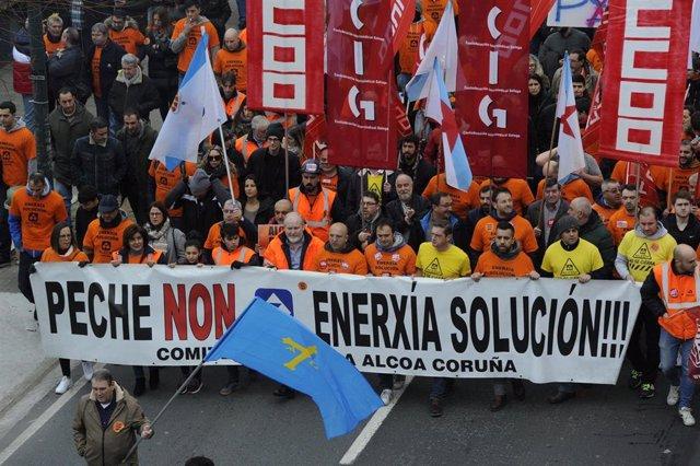 Alcoa.- A planta da Coruña non poderá presentarse á próxima poxa de interrumpibilidade ao ter renunciado