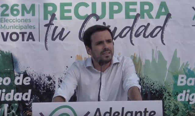 """26M.- Garzón (IU) Llama A Recuperar El """"Instinto De Clase"""" Y Pide """"Un Esfuerzo Más"""" De Cara A Las Elecciones Del Domingo"""