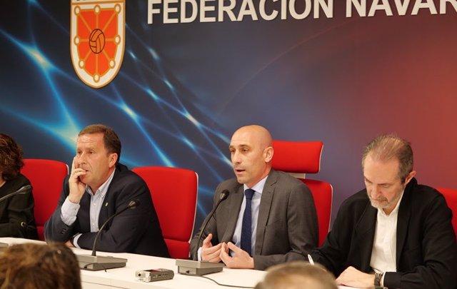 El presidente de la Real Federación Española de Fútbol (RFEF), Luis Rubiales.