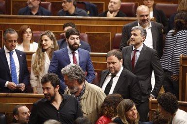 """Junqueras confia que amb """"molta probabilitat"""" l'Eurocambra no el suspendrà (Eduardo Parra - Europa Press)"""