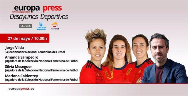 Fútbol.- Jorge Vilda y el sueño del Mundial de Francia este lunes en los Desayunos Deportivos de Europa Press
