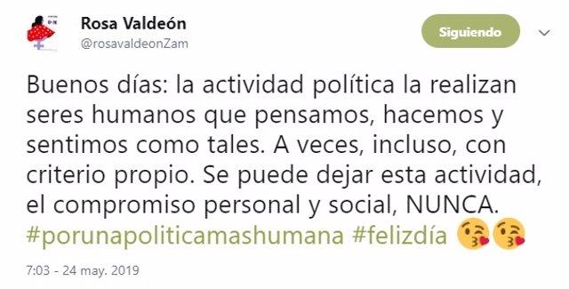 """26M.- Valdeón Reivindica La Política Con """"Criterio Propio"""" Y Aclara Que Nunca Se Deja El Compromiso Personal Y Social"""