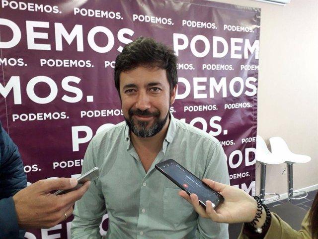 """Gómez-Reino (Podemos) apoya a Marea Atlántica: """"Esperamos que partir del lunes Xulio Ferreiro siga siendo alcalde"""""""