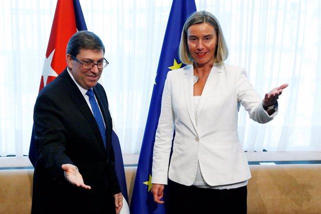 UE/Cuba.- Mogherini y el canciller cubano discuten próximos pasos tras reactivación de la Ley Helms-Burton y Venezuela