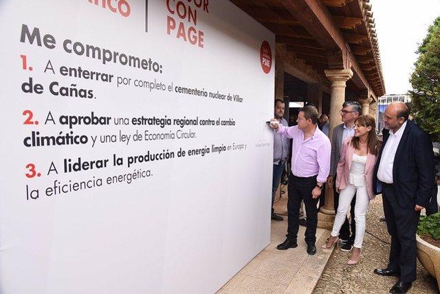 """26M.- García-Page Se Compromete A """"Cerrar"""" Por Completo El Proyecto Del ATC En Villar De Cañas (Cuenca)"""