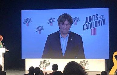 """Puigdemont demana respondre a les urnes la suspensió dels presos electes: """"Tot queda clar"""" (EUROPA PRESS)"""