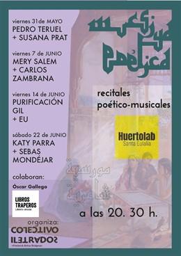 Pedro Teruel-Susana Prat, Mery Salem-Carlos Zambrana, Puri Gil-Eu y Katy Parra-Sebas Mondéjar, en Mursiya Poética 2019