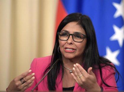 """Delcy Rodríguez asegura que el """"robo"""" de Citgo por parte de EEUU y Guaidó provocó el """"asesinato de niños"""" en Venezuela"""