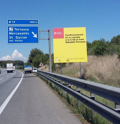 El Govern inicia las obras de ampliación de la C-58 entre Sabadell y Terrassa