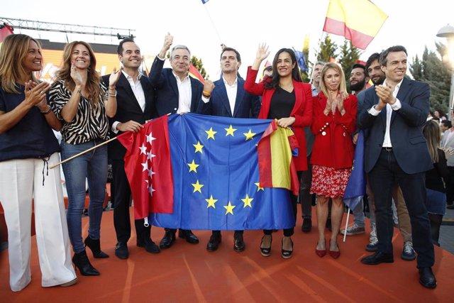 Cierre de campaña de Ciudadanos en el Parque Alfredo Kraus en Madrid