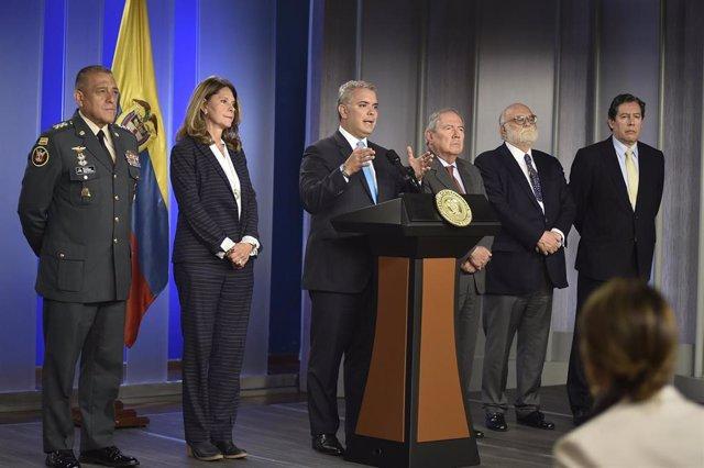 Colombia.- Duque crea una comisión para vigilar el respeto a los DDHH en las FFAA tras el artículo del 'NYT'