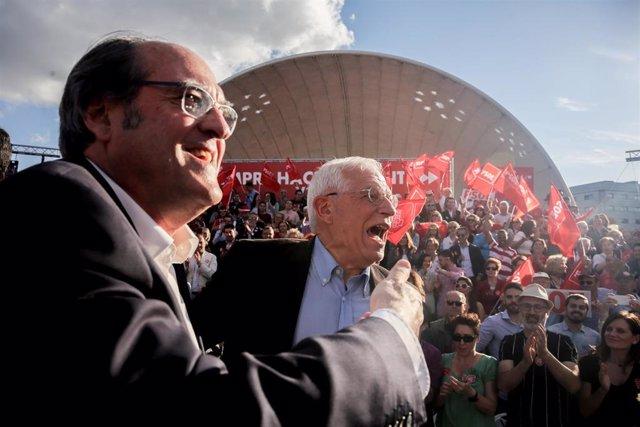 Acto de cierre de campaña del PSOE en el Auditorio Pilar García Peña de Madrid