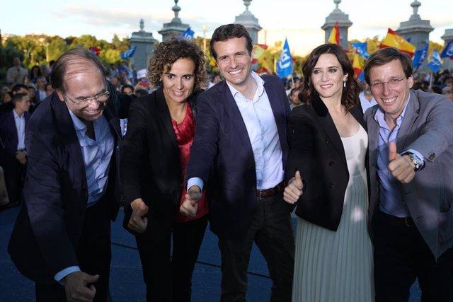 Acto de cierre de campaña del Partido Popular en la Casa de Campo en Madrid
