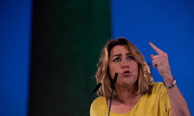 Susana Díaz, interviene en el acto del cierre de campaña.