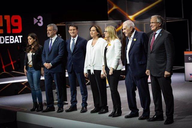 Debate de TV3 con los candidatos a la alcaldía de Barcelona