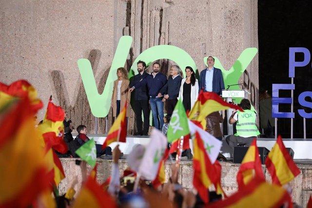 26M.- Vox cierra la campaña con Abascal y con la carga simbólica del juicio al 'Procés' con un mitin cerca del Supremo