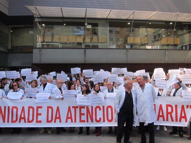 """Médicos de Primaria de Vigo valoran el """"éxito"""" de la huelga, con más del 90% de seguimiento, que el Sergas rebaja al 36%"""