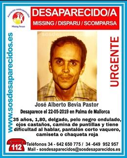 Sucesos.- Buscan a un hombre de 35 años desaparecido en Palma desde el miércoles