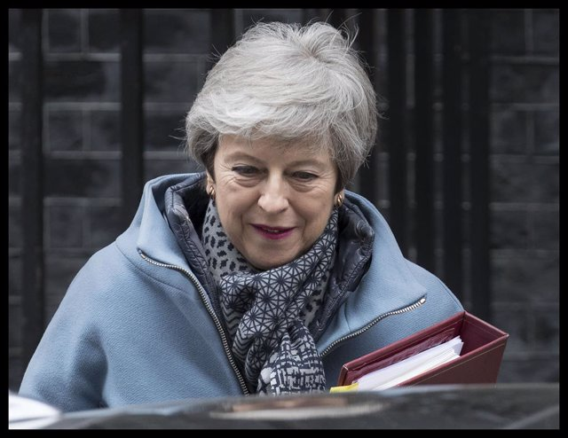 Prime Minister Theresa May leaving for PMQ\'s