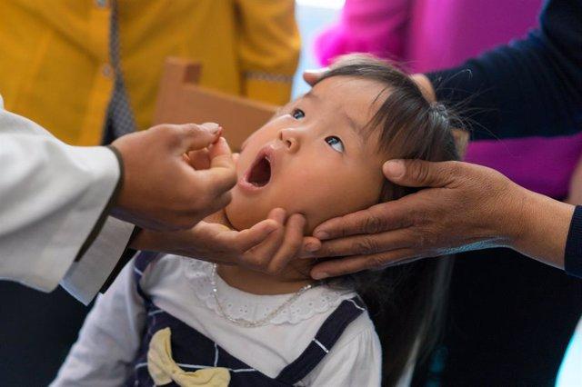 Vacunación contra la polio en Corea del Norte