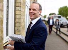 L'exministre pel Brexit Dominic Raab anuncia la seva candidatura per liderar el Partit Conservador britànic (Andrew Parsons)