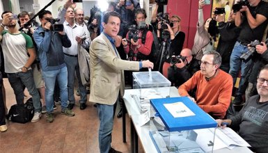 """Valls (BCN Canvi-Cs) espera que sigui el """"gran dia del canvi"""" a Barcelona (EUROPA PRESS)"""
