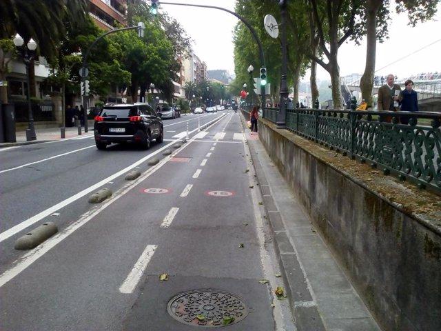 Bidegorri en Bilbao