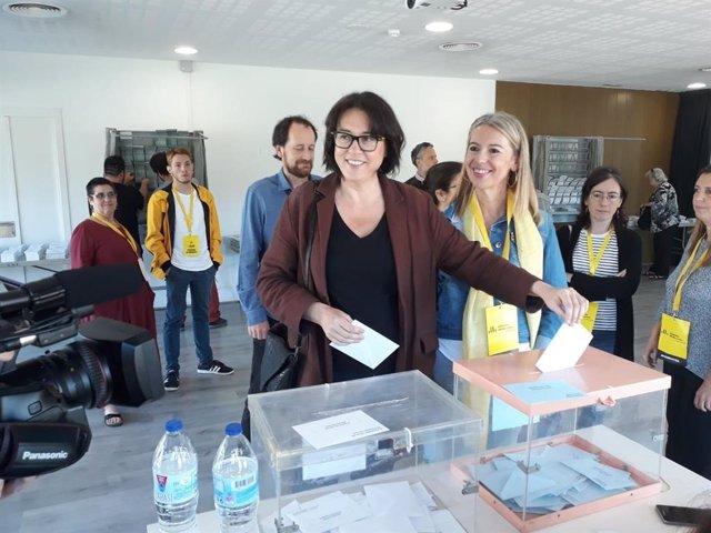 """Riba (ERC) vota """"por los derechos y las libertades"""", por Catalunya y por Europa"""
