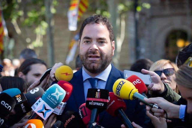 El presidente de la Generalitat catalana, Quim Torra, declara en el TSJC