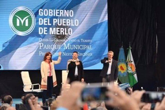 La fórmula presidencial Fernández-Fernández inicia su carrera a la Presidencia argentina en busca del voto descontento