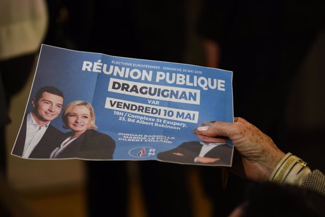 Marine Le Pen rally in Draguignan