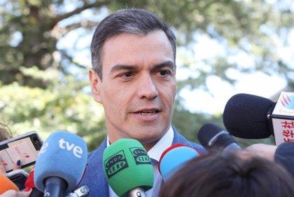 Sánchez llega a Ferraz para seguir el escrutinio de las elecciones