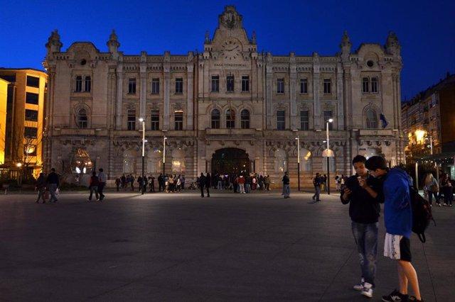 El Ayuntamiento de Santander sin luz