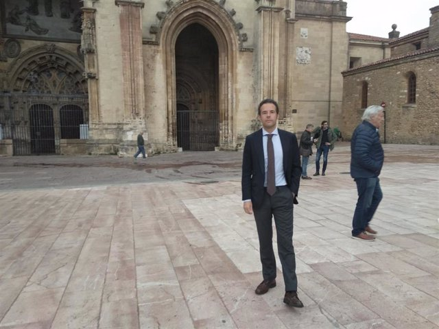 Ignacio Cuesta, candidato de Ciudadanos a la alcaldía de Oviedo.