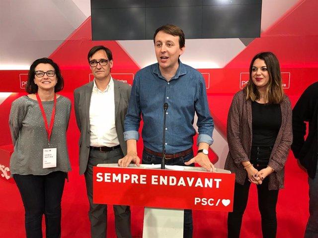 """26M-I.- Javi López Proclama """"El Final De la Travessia Del Desert"""" Del PSC"""
