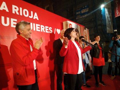 El PSOE tiñe La Rioja de rojo tras 24 años del PP y Concha Andreu podrá ser la primera presidenta de la comunidad