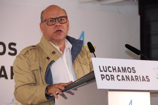 """26M.- Barragán (CC) prefiere ser prudente ante las encuestas y afirma que hay """"ganas"""" de un nuevo Gobierno de CC"""
