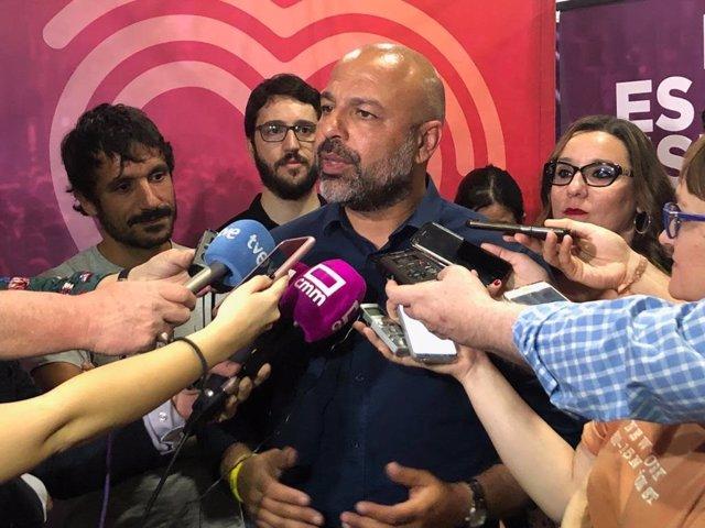 AMP.-26M.-Molina dimite como secretario general de Podemos en C-LM tras su mal resultado y su desaparición parlamentaria