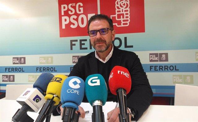 """Ángel Mato """"acata"""" la decisión del PSOE de modificarle la lista electoral y será candidato a la Alcaldía de Ferrol"""