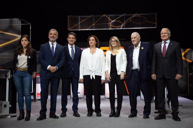 26M.- Los alcaldables de Barcelona acaban su campaña con Maragall y Colau como favoritos