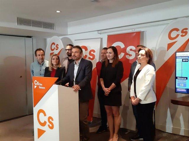 """26M.- Cs Felicita Al PSOE Por Su """"Excelente Resultado"""" En Baleares Y Se Presenta Como """"Una Oposición Firme"""""""