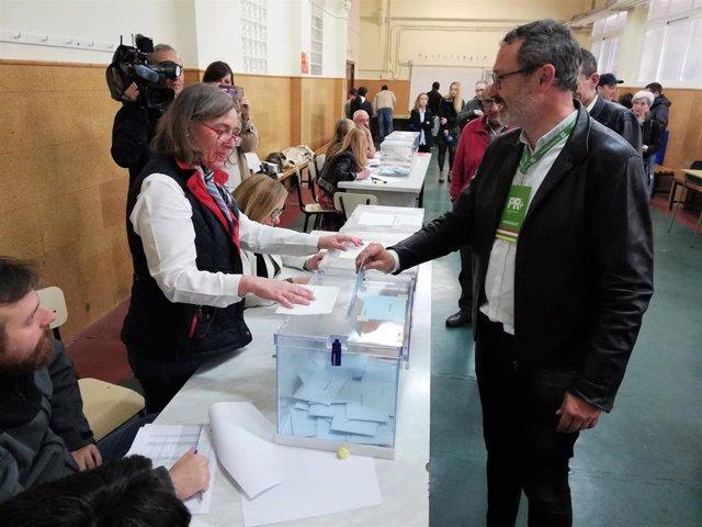 """26M-M.- Antoñanzas (PR+) anima a todos """"a llenar las urnas"""" porque """"nos jugamos el futuro de Logroño y La Rioja"""""""