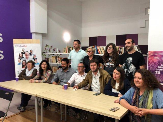 26M.-Los candidatos de Unidas Podemos empiezan a llegar a su sede para seguir los resultados de las elecciones