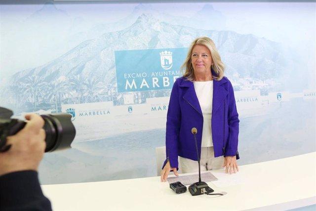 La alcaldesa de Marbella, Ángeles Muñoz