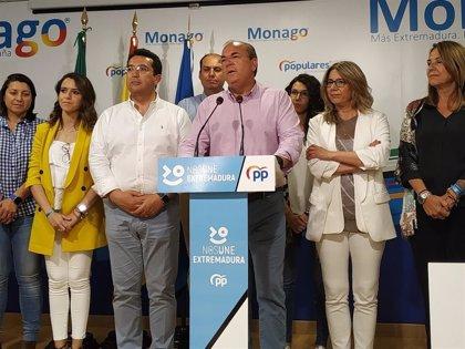 """Monago afirma que la mayoría absoluta de Vara ha sido el """"sorpasso"""" de las elecciones en Extremadura"""