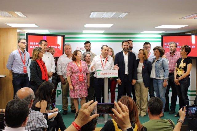 """Málaga.- 26M-M.- Pérez (PSOE): """"El resultado deja algo muy claro y es que la mayoría de malagueños han votado cambio"""""""