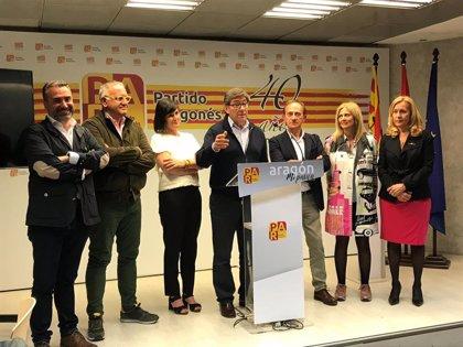 """Aliaga asegura que el PAR seguirá defendiendo """"las políticas de moderación"""" y los """"interés de Aragón"""""""