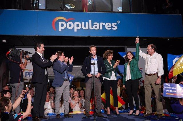 Elecciones 26M 2019. Seguimiento de resultados del PP en Madrid